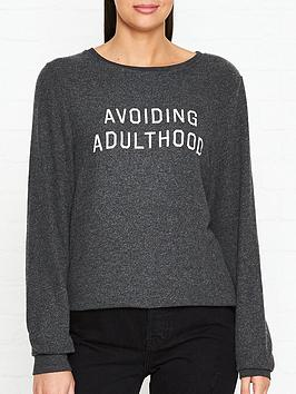 wildfox-avoiding-adulthood-baggy-beach-jumper-grey