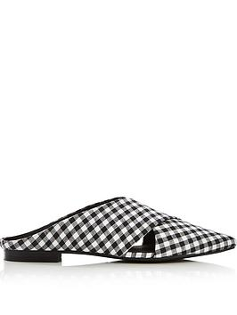 sol-sana-divina-gingham-crossover-flat-shoes-blackwhite