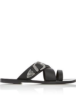 sol-sana-cassidy-buckle-sliders-black