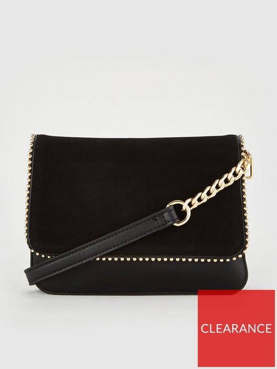 aae2464093cb V by Very Primrose Pin Stud Crossbody Bag - Black