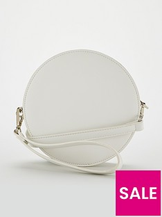 v-by-very-poppy-round-crossbody-white