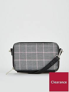 v-by-very-penelope-double-zip-mini-crossbody-bag-check-print