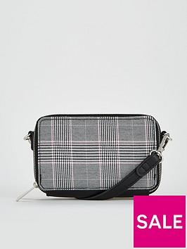 v-by-very-penelope-double-zip-mini-crossbody-bag-check-print