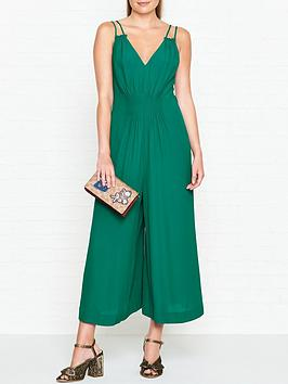 whistles-armelle-double-strap-jumpsuit-green