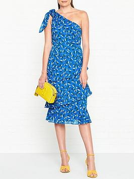 whistles-almond-print-dobby-one-shoulder-dress-blue