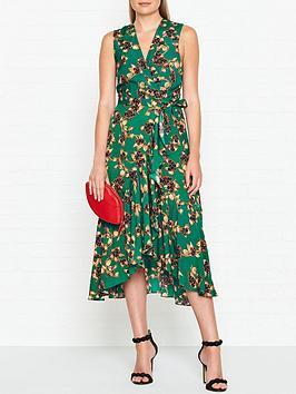 whistles-francesca-capri-print-wrap-dress-green