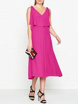whistles-romina-tie-shoulder-dress-raspberry
