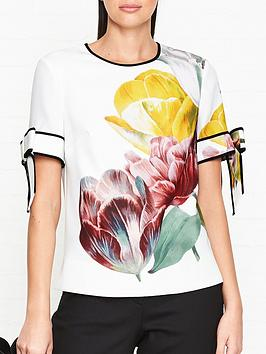 ted-baker-pollie-tranquility-print-bow-sleeve-top-white