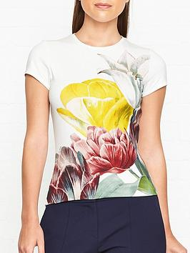 ted-baker-pippie-tranquility-print-fitted-t-shirt-white