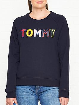 tommy-hilfiger-francesca-logo-sweatshirt-navy