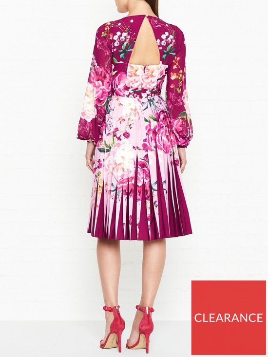 c9176cb47894f0 Ted Baker Esperan Serenity Print Contrast Print Long Sleeve Dress - Maroon