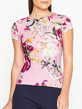 ted-baker-evaai-serenity-print-fitted-t-shirt-lilac