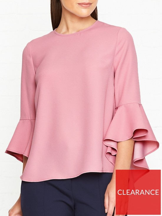 197bfe73d104 Ted Baker Juula Waterfall Sleeve Top - Pink | very.co.uk