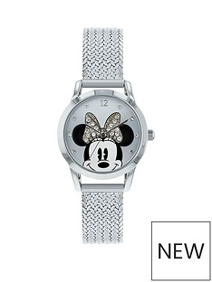 minnie-mouse-minnie-mouse-stone-set-dial-silver-stainless-steel-mesh-strap-ladies-watch