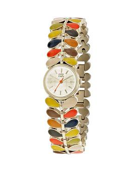 orla-kiely-laurel-multicolour-stem-detail-bracelet-ladies-watch
