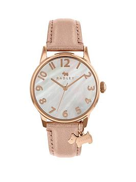 radley-mother-of-pearl-dial-with-dog-charm-and-rose-gold-leather-strap-ladies-watch