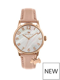 radley-radley-mother-of-pearl-dial-with-dog-charm-and-tan-leather-strap-ladies-watch