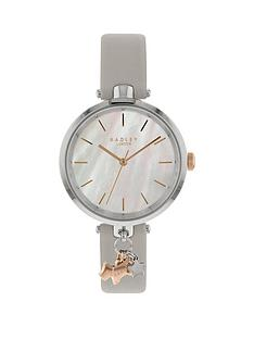 radley-ry2653-st-duncanrsquos-mother-of-pearl-dial-with-rose-gold-dog-charm-and-silver-leather-strap-ladies-watch