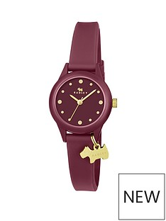 radley-radley-berry-and-gold-dial-with-gold-charm-and-berry-silicone-strap-ladies-watch