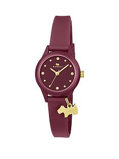 radley-watch-it-gold-charm-and-berry-silicone-strap-ladies-watch
