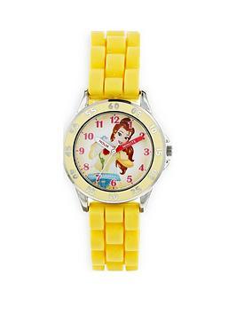 disney-princess-belle-printed-dial-yellow-silicone-strap-kids-watch