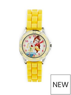 disney-princess-disney-princess-belle-printed-dial-yellow-silicone-strap-kids-watch