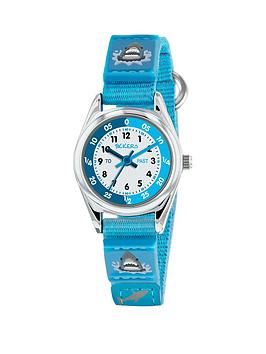 tikkers-tikkers-white-dial-shark-detail-blue-fabric-strap-kids-watch