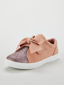 v-by-very-girls-katy-glitter-amp-large-bow-plimsolls-pink