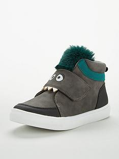 v-by-very-boys-max-cheeky-monster-faux-fur-hi-top-boots-grey