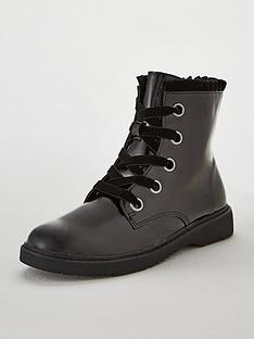 v-by-very-kelly-patent-lace-up-frill-collar-boot