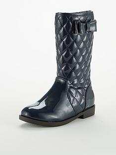 v-by-very-karina-hi-leg-patent-qulited-boot-navy