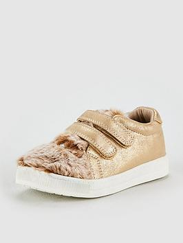 v-by-very-ruby-rabbit-faux-fur-plimsole