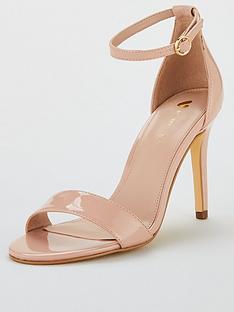 08c7ddbc7a6d9e V by Very Gemma Mid Heel Minimal Sandal - Nude