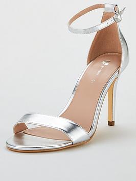 V By Very Gemma Mid Heel Minimal Sandal