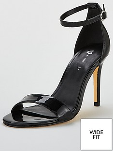 2979c2d759b14e V by Very Wide Fit Gemma Mid Heel Minimal Sandal