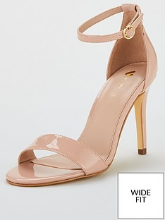 9cca75fbbe3 V by Very Wide Fit Gemma Minimal Heels - Nude