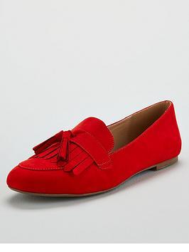 v-by-very-mumbai-flat-tassel-loafer-red