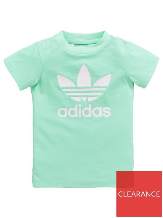 adidas Originals Baby Girls Zoo Tee Set - Green  4de686aeff61