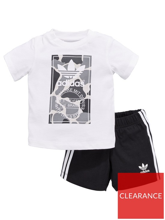 dddfcc92a9d4 adidas Originals Baby Boys Camo Trefoil Set - Black White