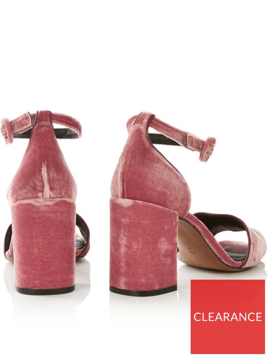 c3d8a2aa85c ... WHISTLES Hedda Velvet Block Heel Sandal - Pink. View larger