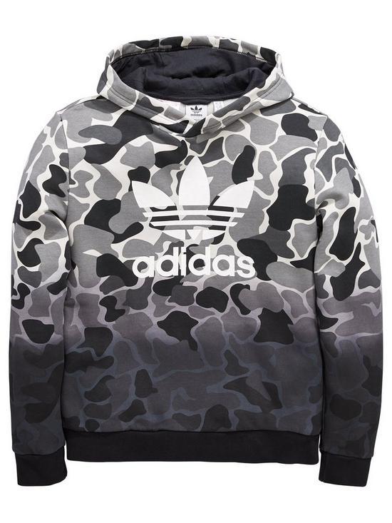 b76cd8e4b3ba adidas Originals Boys Trefoil Camo Hoodie - Multi