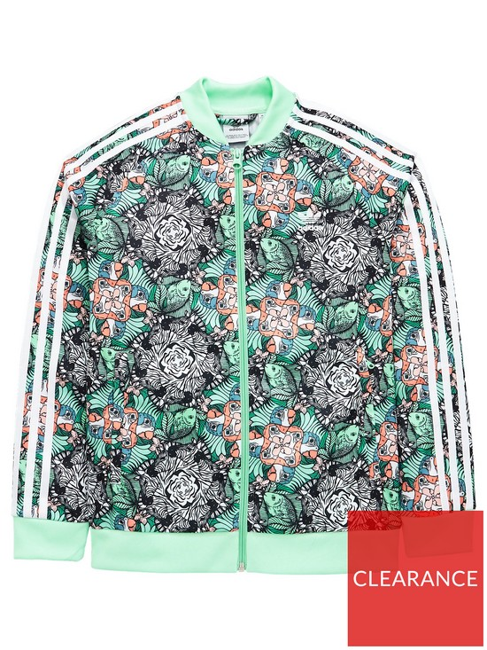 415a21024293 adidas Originals Girls Zoo Superstar Jacket - Multi