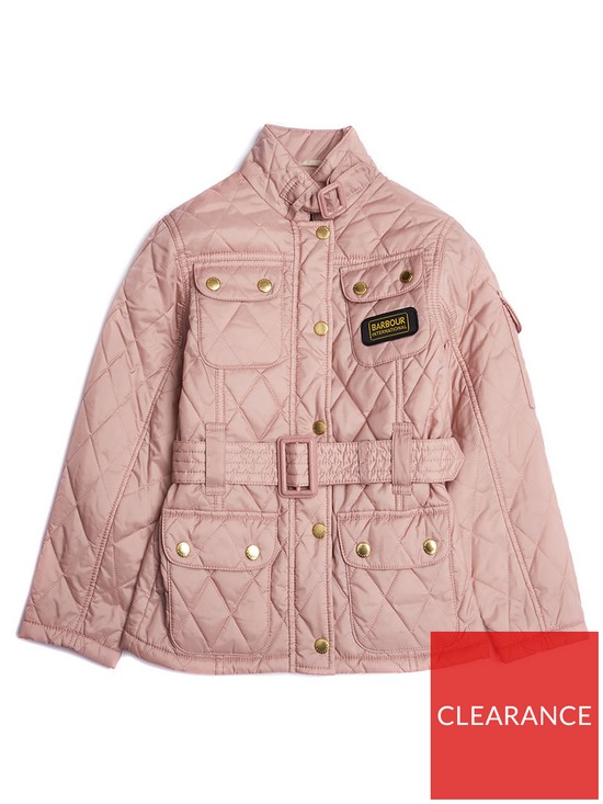 Barbour International Girls Flyweight Quilted Belted Jacket   very.co.uk 7e12ccf12782