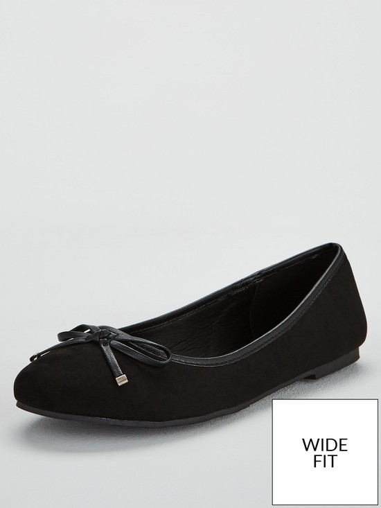 03894d5730445b V by Very Wide Fit Maple Round Toe Ballerina | very.co.uk