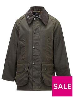 barbour-boys-classic-beaufort-wax-jacket