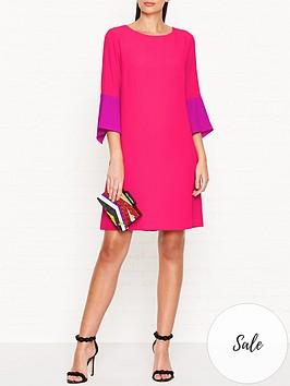 ps-paul-smith-silk-blend-34-sleeve-shiftnbspdress-pink