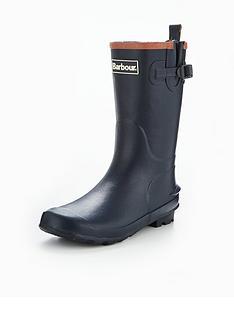 barbour-kids-navy-wellington-boot