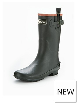 barbour-kids-olive-wellington-boot