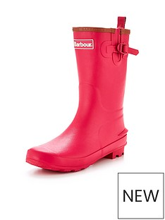 barbour-girls-pink-wellie