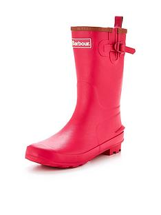 barbour-girls-pink-wellington-boot